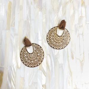 Gold Filigree Statement Earrings